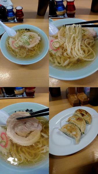 「『ラーメン+餃子3個(¥580+260)』」@らーめん 大金の写真
