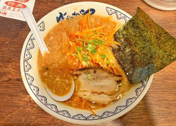 「辛ねぎばんから」@東京豚骨拉麺 ばんから 池袋本店の写真