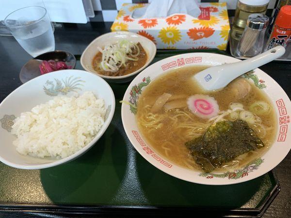 「土日限定セット880円」@拉麺 定食 幻驢芭 -MaHoroba-の写真