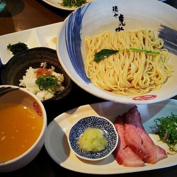 「【数量限定】薬涼 潮つけそば(〆の冷や飯付き) 900円」@麺や 虎徹の写真