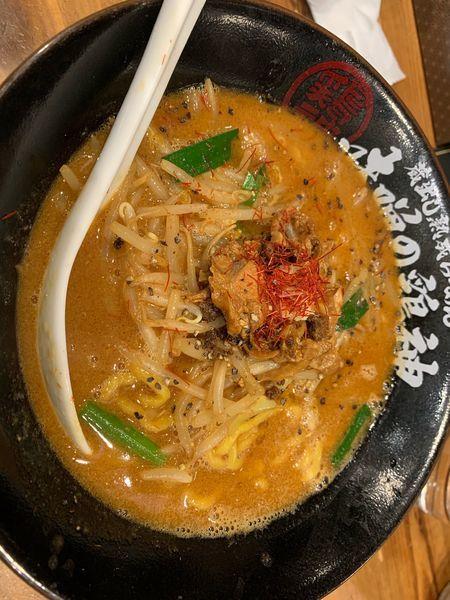 「味噌ラーメン大盛」@蔵出し熟成らーめん 味噌の鶏神 刈谷店の写真