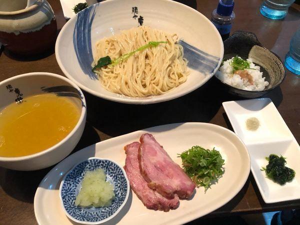 「[数量限定]薬涼 潮 つけそば(普通盛)¥900」@麺や 虎徹の写真