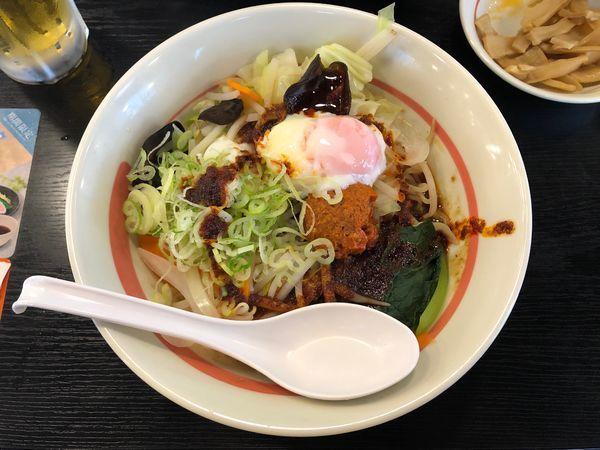 「台湾野菜まぜめん(辛シビ)」@幸楽苑 万博記念公園店の写真