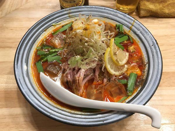 「瓶ルービー → 冷やし担々麺」@鶏そばムタヒロの写真