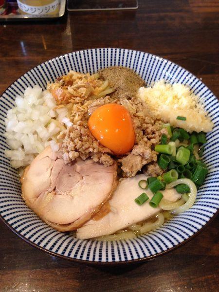 「鶏まぜそば 大盛 820円」@活龍 期間限定麺処 みつきの写真