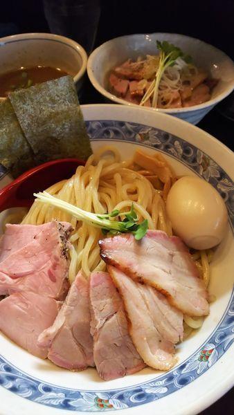 「特製つけ麺+塩ぶた丼」@麺処 夏海の写真