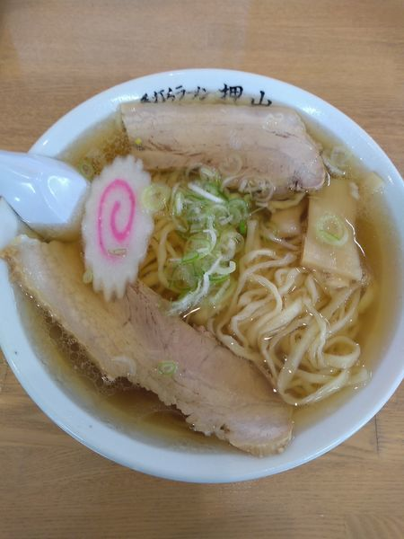 「ラーメン  650円 餃子3個 270円」@佐野青竹手打ちラーメン 押山の写真