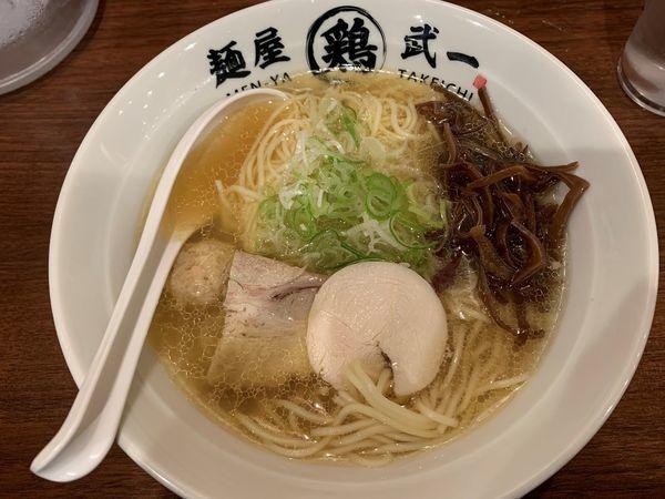 「アゴ出汁鶏そば」@濃厚鶏そば 麺屋武一 北千住店の写真