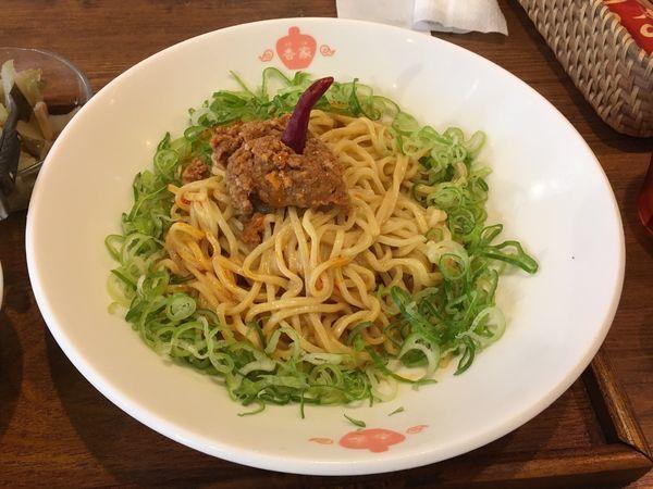 「冷やし麺 日式・汁なし担々麺+ライス」@香家 三田店の写真