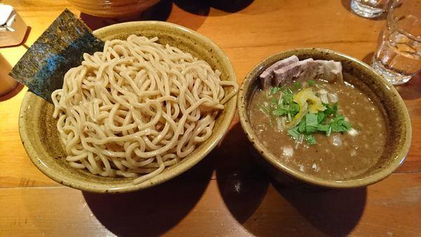 「つけ麺(味玉、肉入り)特盛」@麺屋 えん寺の写真