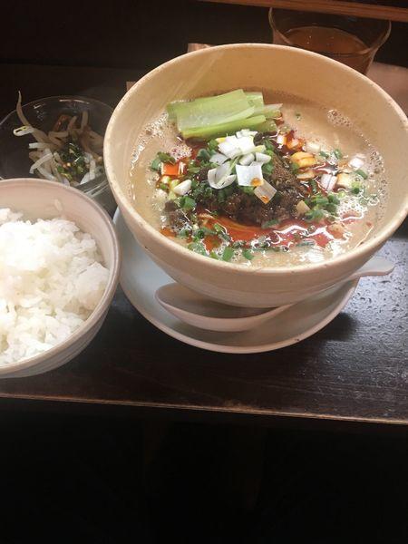 「担々麺 ライス」@うずまき 別館の写真