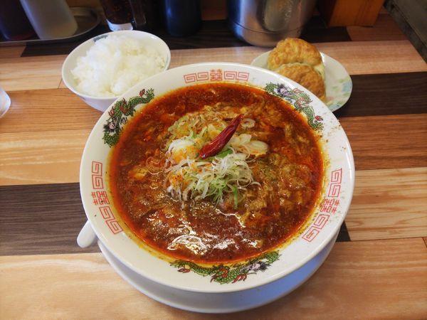 「マーラー麺+Aセット」@ラーメン餃子 なか屋の写真