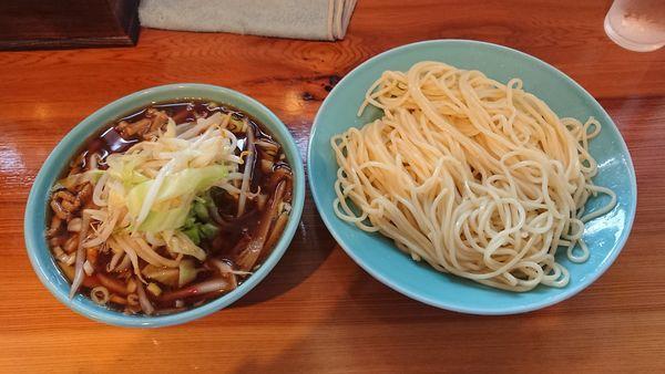 「特つけそば(並) 800円 + チャーシュー丼ミニ 300円」@つけそば 麺吉の写真