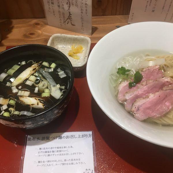 「鴨だし淡麗昆布水つけ麺」@麺処 ぐり虎 本店の写真
