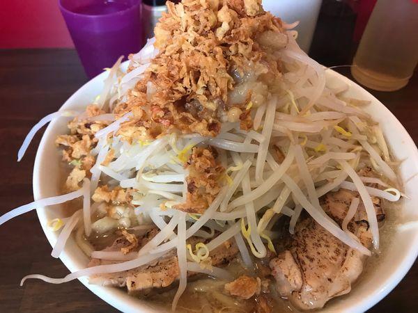 「ラーメン300g(野菜マシマシアブラニンニク少なめ)」@龍麺 ふえ郎の写真