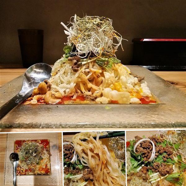 「冷やし汁なし担々麺(限定)  1000円」@175°DENO担担麺 神田駅北口店の写真