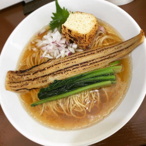 「【限定】炙り穴子の山椒蕎麦」@中華そば うお青の写真