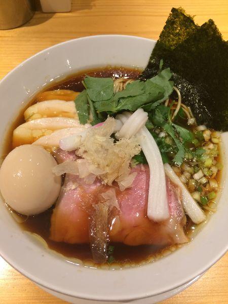 「特製鶏SOBA1080円」@Ginza Noodles むぎとオリーブの写真