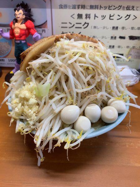 「ラーメン(オーション麺 200g)ヤサイチョイマシニンニクアブラ」@ラーメン ジライヤの写真