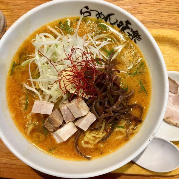 「焼き味噌950円+チャーシュー(クーポン)」@利尻らーめん 味楽 新横浜ラーメン博物館店の写真
