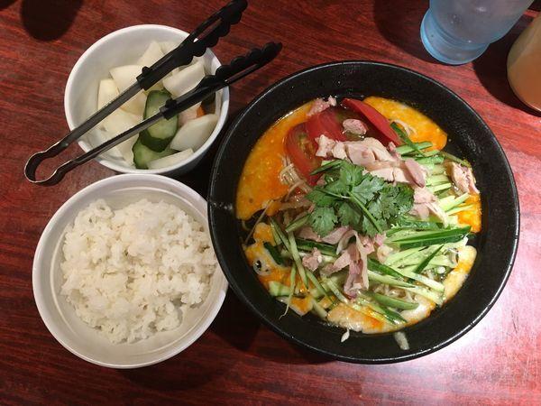 「冷し担々麺+小ライス」@四川屋台の写真