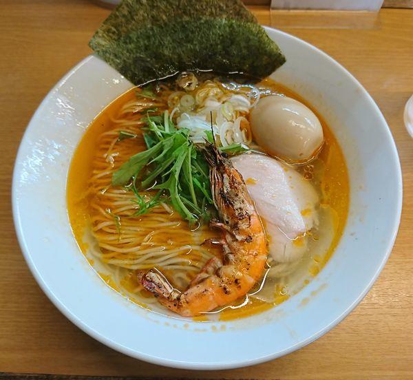 「海老塩そば(880円)」@麺処ろくめいの写真