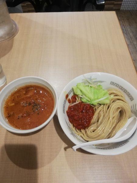 「トマト味噌つけ麺 800円」@らーめん カッパハウスの写真