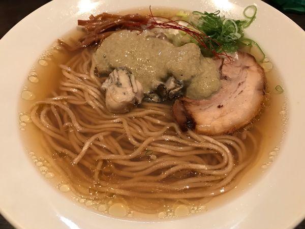 「【限定】牡蠣そば  850円」@らーめん くろくの写真
