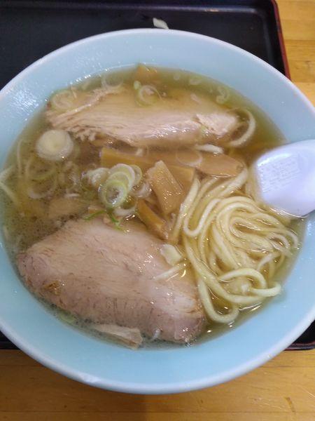 「ラーメン (ギョーザセット) 900円」@青竹手打麺 餃子 岳乃屋の写真