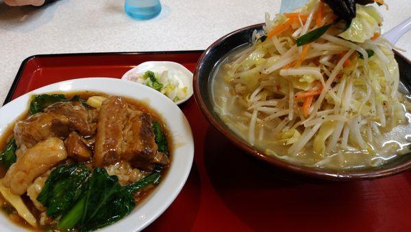 「タンメン 角煮丼」@らーめん まるともの写真