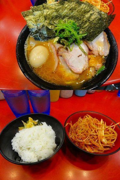 「大盛チャーシュー麺1030円 麺硬め 煮卵40円 etc」@家系総本山 吉村家の写真