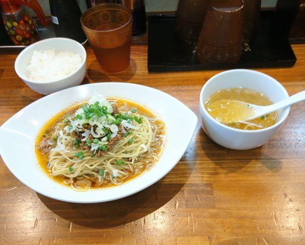 「汁なし担々麺」@塩らーめん 千茶屋の写真