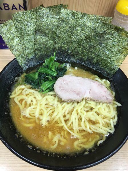 「ラーメン中盛  海苔  硬め  多め」@横浜ラーメン 武蔵家 御茶ノ水店の写真