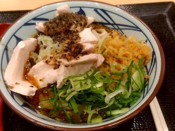 「ねぎだれぶっかけうどん(並盛)640円」@丸亀製麺 イーサイト高崎店の写真