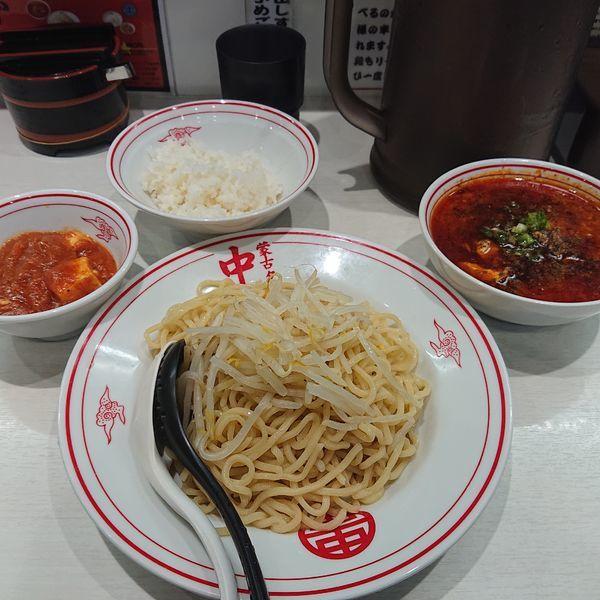 「四川風麻婆つけ麺850円、定食170円」@蒙古タンメン 中本 川越店の写真