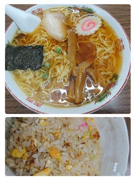 「ラーメン半チャーハンセット(950円)」@多万里食堂の写真