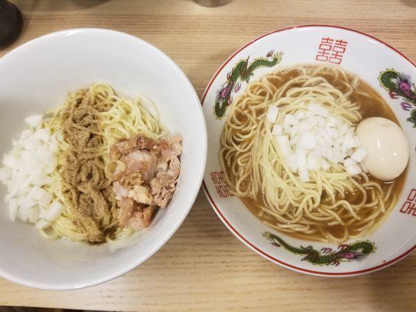 「味玉煮干中華蕎麦と和え玉セット」@ハイパーファットンの写真