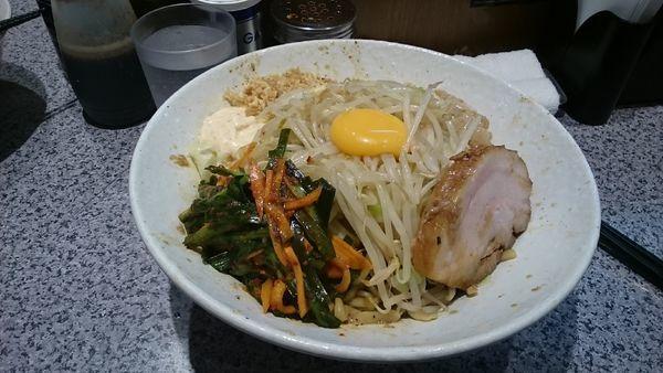 「大・汁なし・ニラキムチ(ヤサイアブラ)¥950」@ラーメン宮郎の写真