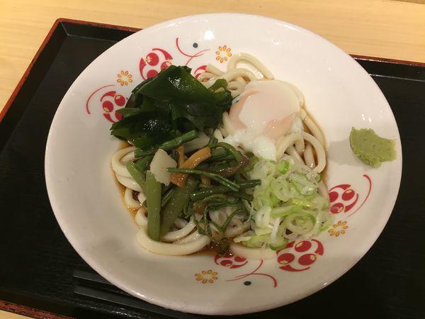 「朝食うどん(冷)¥380」@いろり庵きらく 宇都宮新幹線口店の写真