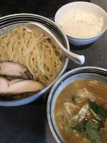 「鶏つけ、サービス大盛り、サービスライス」@麺彩房 弐 NEXTの写真