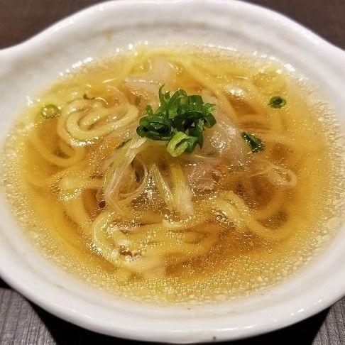 「焼きあご一番だし¥580+ ちぢれ中華麺¥290(税抜)」@ゆず庵 足利店の写真