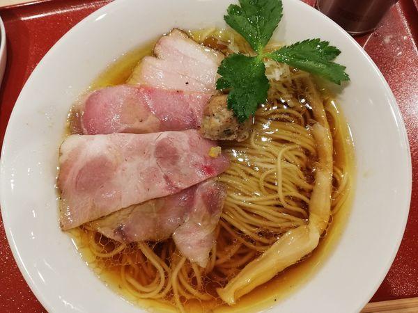 「中華そば」@麦と麺助 新梅田中津店の写真