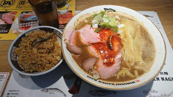 「ランチCセット 1000円」@すごい煮干ラーメン凪 田町店の写真