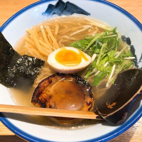 「柚子塩らーめん  (真空手揉麺) 淡麗 ¥1080」@AFURI 恵比寿の写真