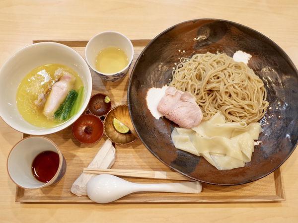 「つけ麺 塩…1500円、つけ麺専用 お出汁割…200円」@らぁ麺 飯田商店の写真