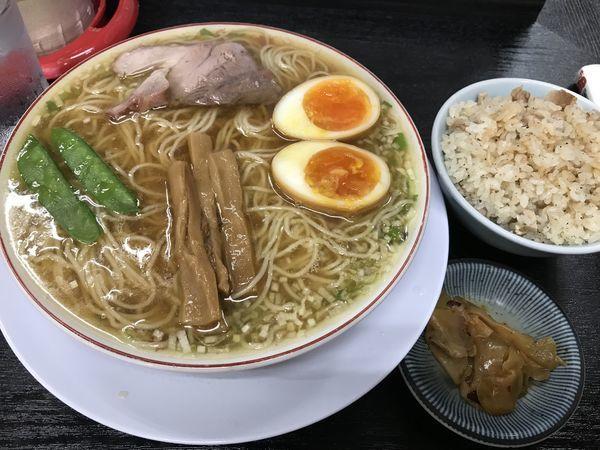 「煮卵入りランチ」@中華そば みずさわ屋の写真