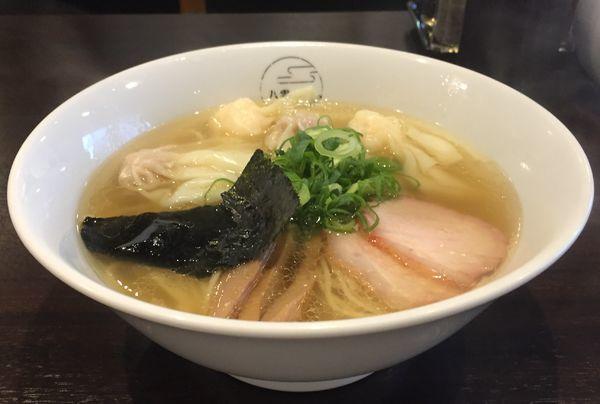 「白だし特製ワンタン麺(ハーフ)1000円」@八雲の写真