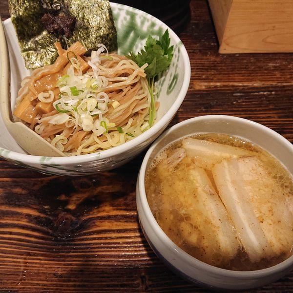 「温しおつけ麺(並)880円、大盛50円」@啜磨専科の写真