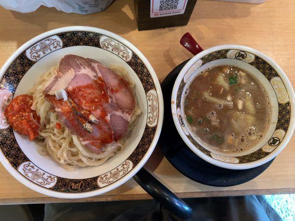 「つけめん870円、うま辛肉みそ150円」@すごい煮干ラーメン凪 新宿ゴールデン街店 別館の写真