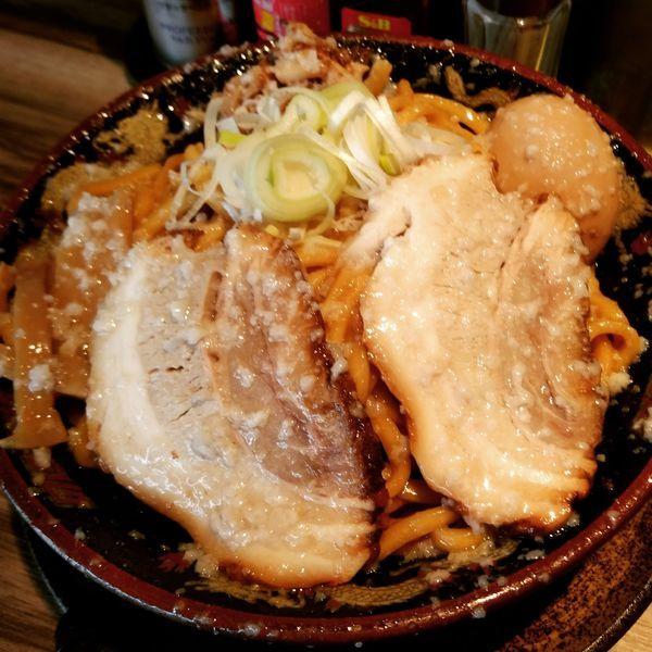「爆盛油脂麺(880円)」@らーめん 平太周 味庵 西大島店の写真